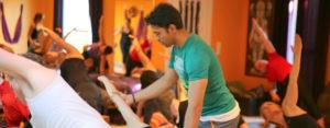 Yoga Instructor conducting a class at Yog Gokul