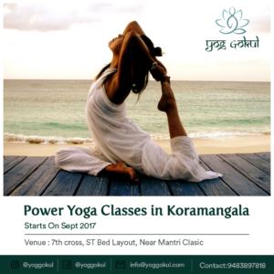 Power yoga class poster